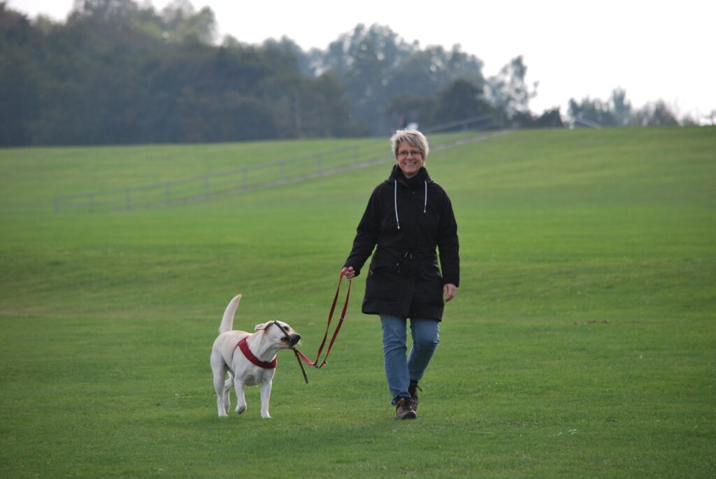 Hund und Frauchen